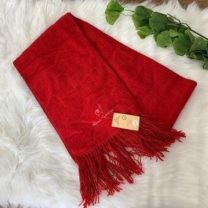Accessories - Alpaca Camargo | Red Soft Scarf Unisex Fringe
